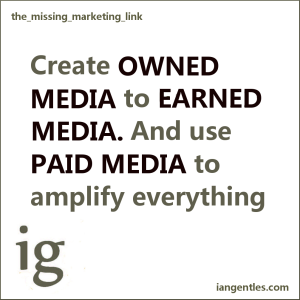 The concept of paid, earned, shared and owned media has content at the center.