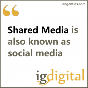Shared Media is largely influenced by social media activity.